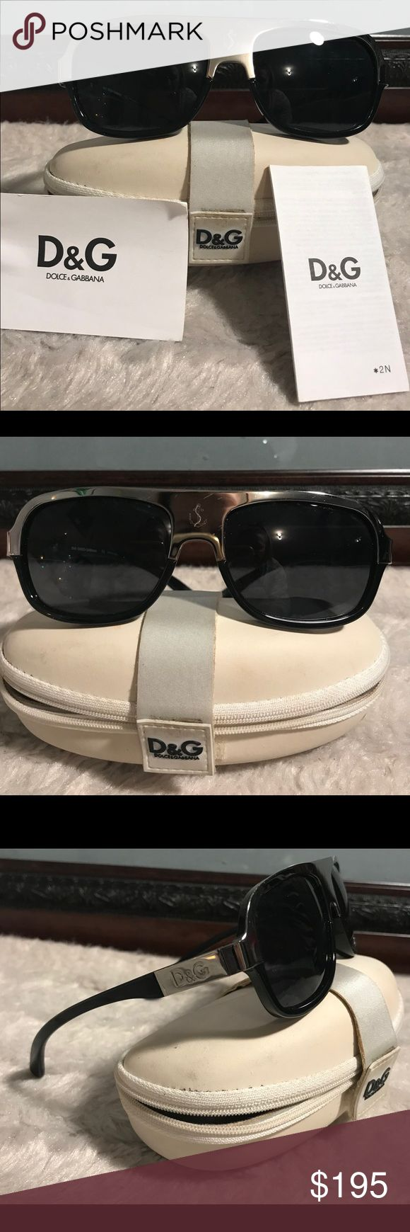 Beautiful Dolce & Gabbana sunglasses Very beautiful pair of authentic D &G sunglasses. Comes with authentic case. No scratches to the lenses or earpieces there is one tiny scratch on the middle part near the nose but barely noticeable at all there is the emblem detail near the nose piece. Serial number on earpiece. Trade value is higher Trade value $225 Dolce & Gabbana Accessories Sunglasses
