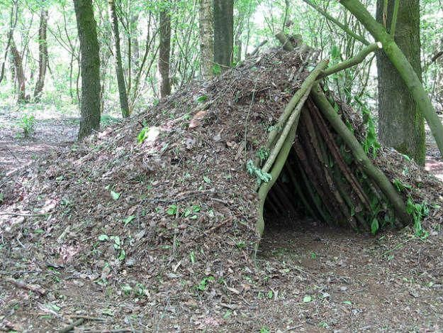 A Debris Shelter | 14 Survival Shelters You Can Build For Any ...