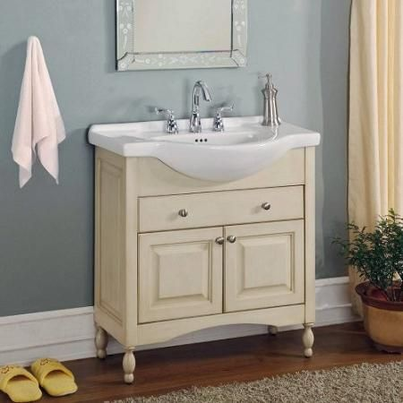 Best 25 Narrow Bathroom Vanities Ideas On Pinterest  Toilet Cool Narrow Depth Bathroom Vanity Inspiration