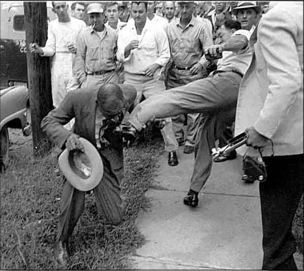 Pay For Rock After School: Black Man Being Forced To Kiss The Foot Of Some White Man