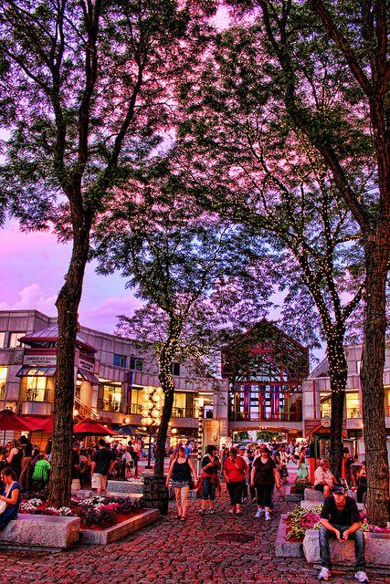 Quincy Market, Boston, MA by Gary Burke.