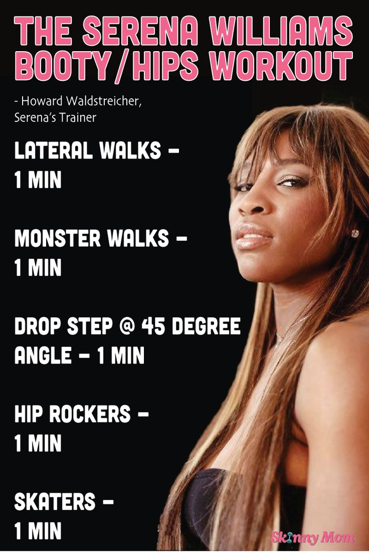 The Serena Williams Workout: Booty & Hips routine from her personal trainer! Click pic for workout video!
