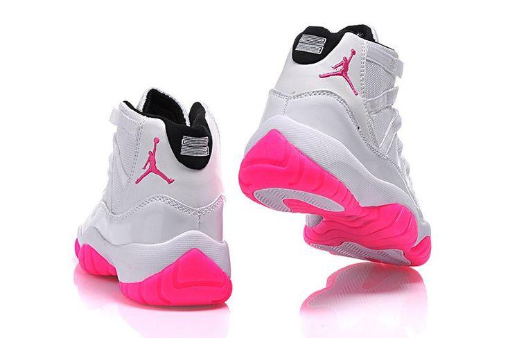 2015 Air Jordan 11 GS White Pink-3