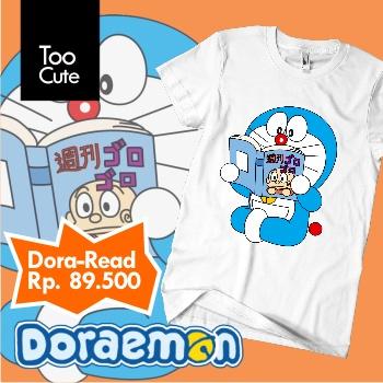 Kaos Doraemon - Reading
