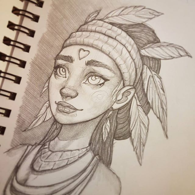 Write about an Indian princess who struggles through many trails to find a reappearing boy.
