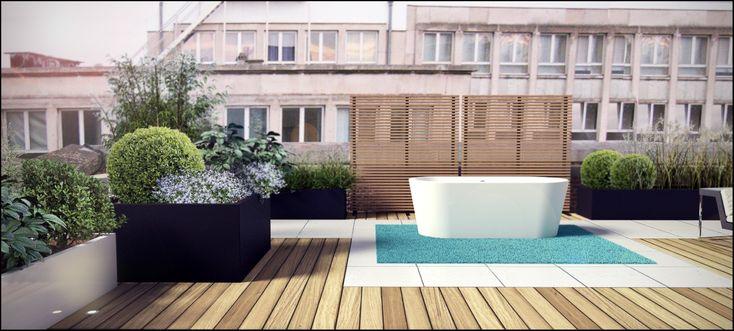 Eco tuinarchitectengroep projecten daktuin brussel for Garden design sketchup 8