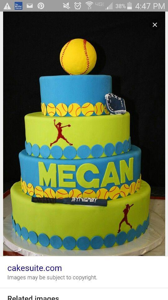 Happy Birthday Softball Mom Cake