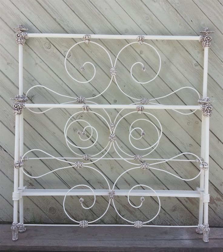beautiful antique iron bed w unique pagoda shaped corner castings circa 1880 - Antique Iron Bed Frame