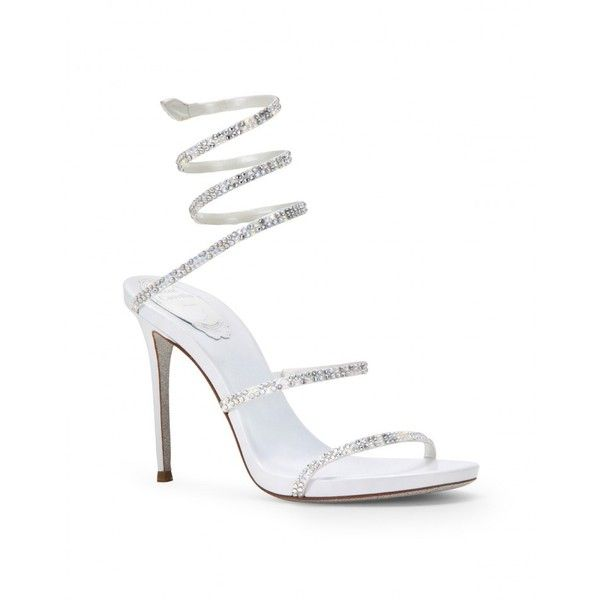 Satin and rhinestone sandals (3.315 BRL) ❤ liked on Polyvore featuring shoes, sandals, satin sandals, rhinestone sandals, rhinestone shoes and satin shoes
