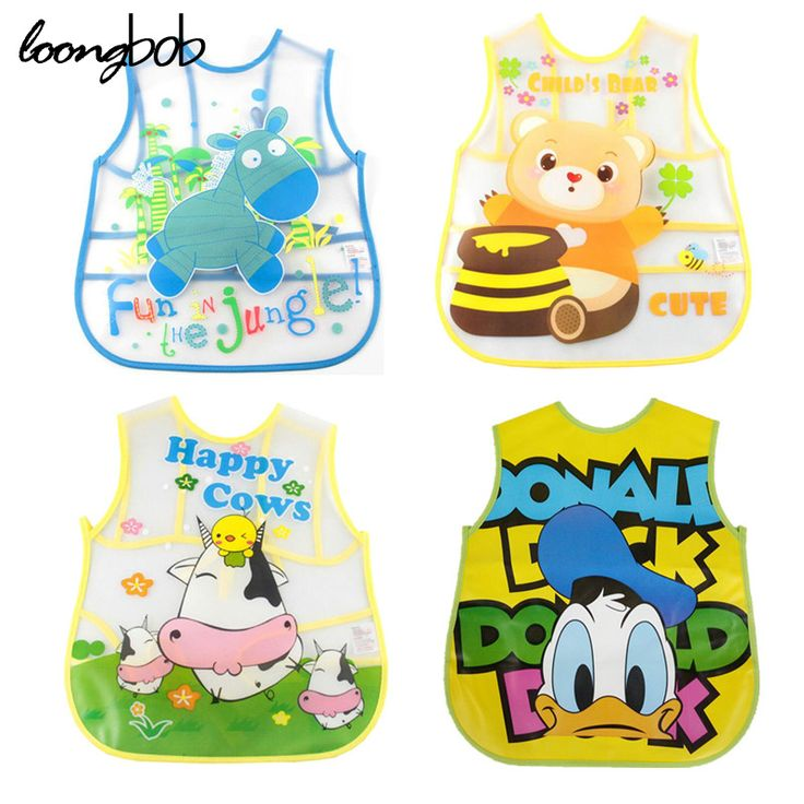 Baby Bibs Waterproof EVA Silicone Children Baby Boy Girl Infants Bibs Burp Clothes Toddler Self Feeding Care