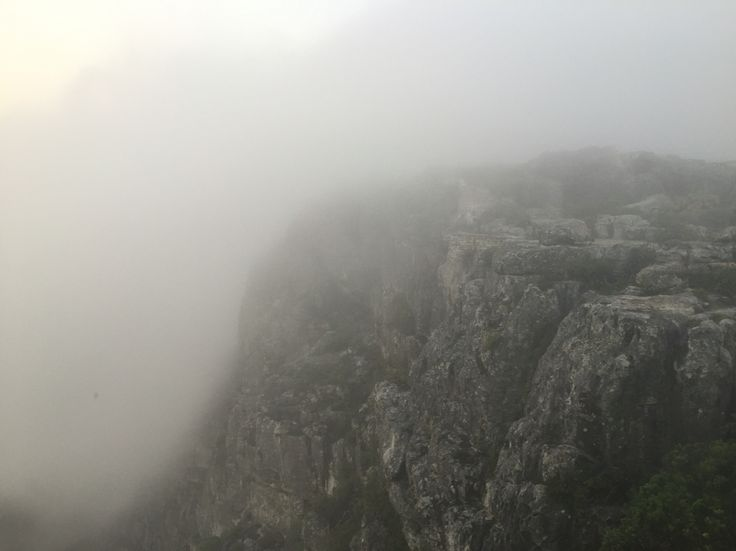 Cloud cover over Table Mountain