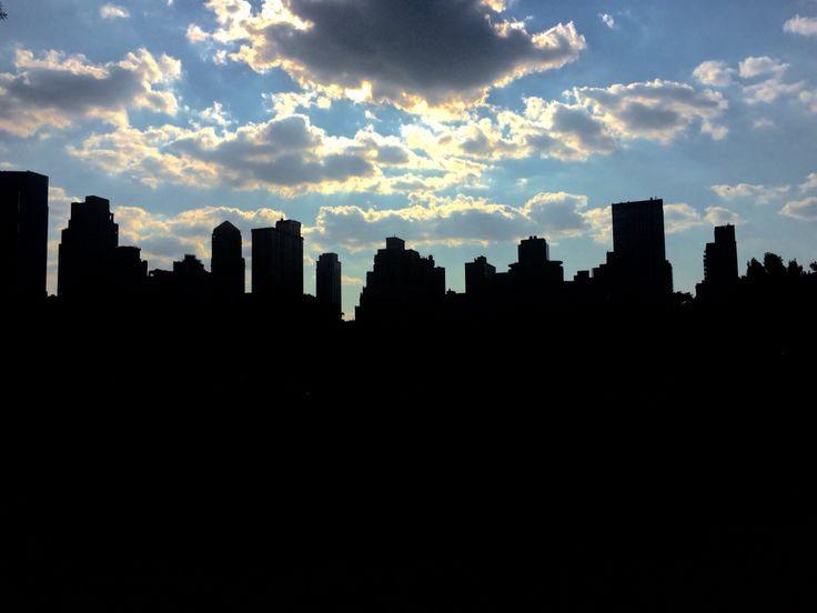 NYC silhouette