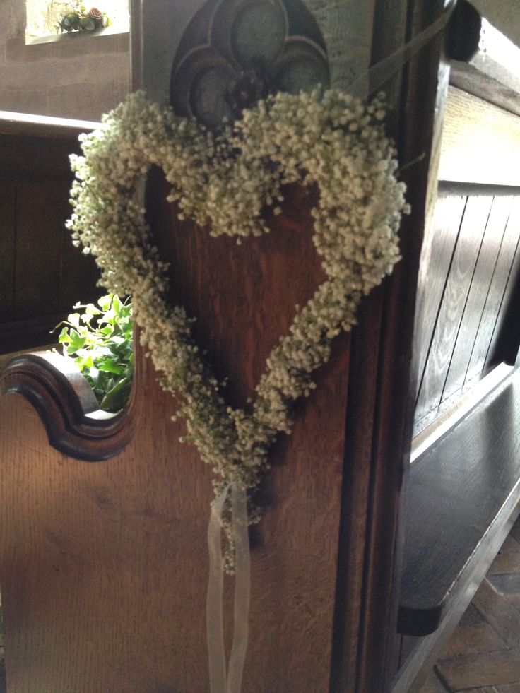 Heart Pew Ends #wedding