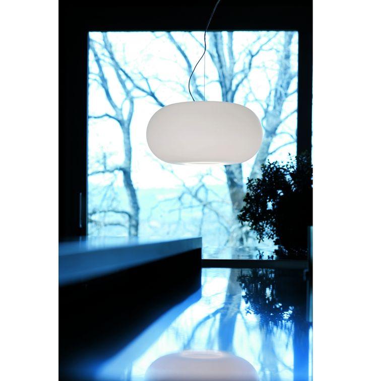 Hanglamp Over S3 Nikkel/glas Glanzend Wit*