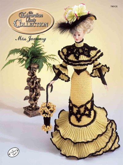 Barbie Crochet:  The Edwardian Lady Going Away Frock Miss January 1996.  $3.95 on e-PatternsCentral