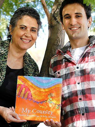 """Sally Morgan has collaborated with her son Ezekiel on a children's book 'My Country' which was chosen for the """"Hello from Australia"""" picture book exhibition at 2011's Bologna Children's Book Fair."""