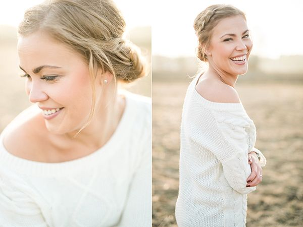 Fall couple shoot, portraits in a field — Susanna Nordvall Photography