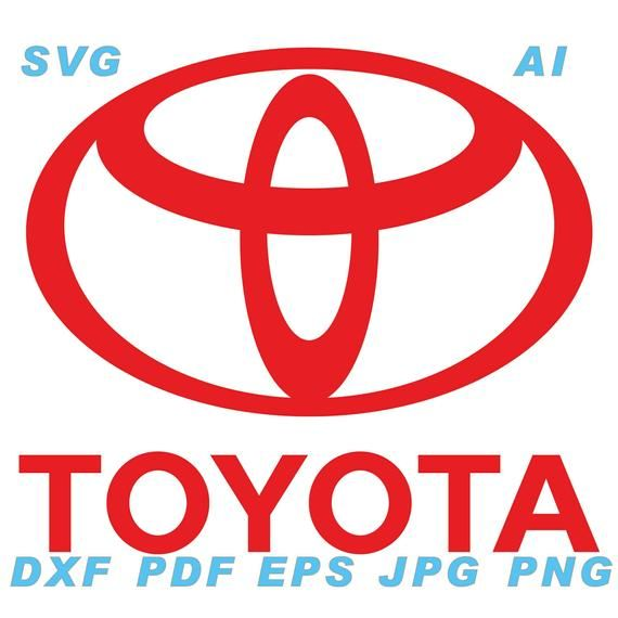 Toyota Ai Svg Eps Png Jpg Pdf Dxf Vector Files Instant