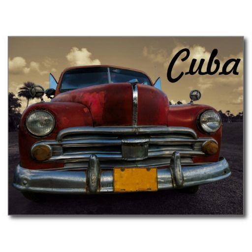 Coche americano clásico en Vinales, Cuba. #tarjeta #postal #postcard
