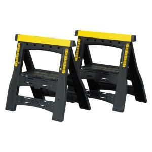 32 In Adjustable Folding Sawhorses Twin Pack 060622r At