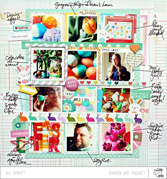 #papercraft #scrapbook #layout.  Storytellers: Frames and Fragments by Jill Sprott @2peasinabucket