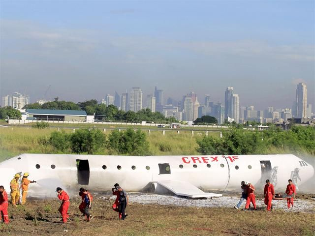 Slideshow : Crash and Rescue Exercise - Ninoy Aquino International Airport holds aircraft crash emergency drill - The Economic Times