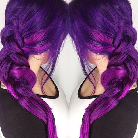 Purple to violet color melt. Purple hair. Violet hair. hotonbeauty.com
