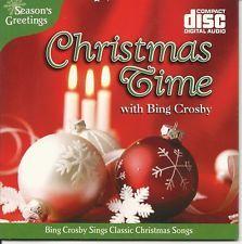CHRISTMAS TIME FAVORITES WITH BING CROSBY HOLIDAY SEASON FESTIVE MUSIC CD - NEW