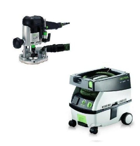 PI574339, Festool OF 1010 EQ Router & CT Mini Dust Extractor