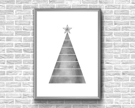 Christmas Tree Print  Watercolor Christmas Tree  Christmas