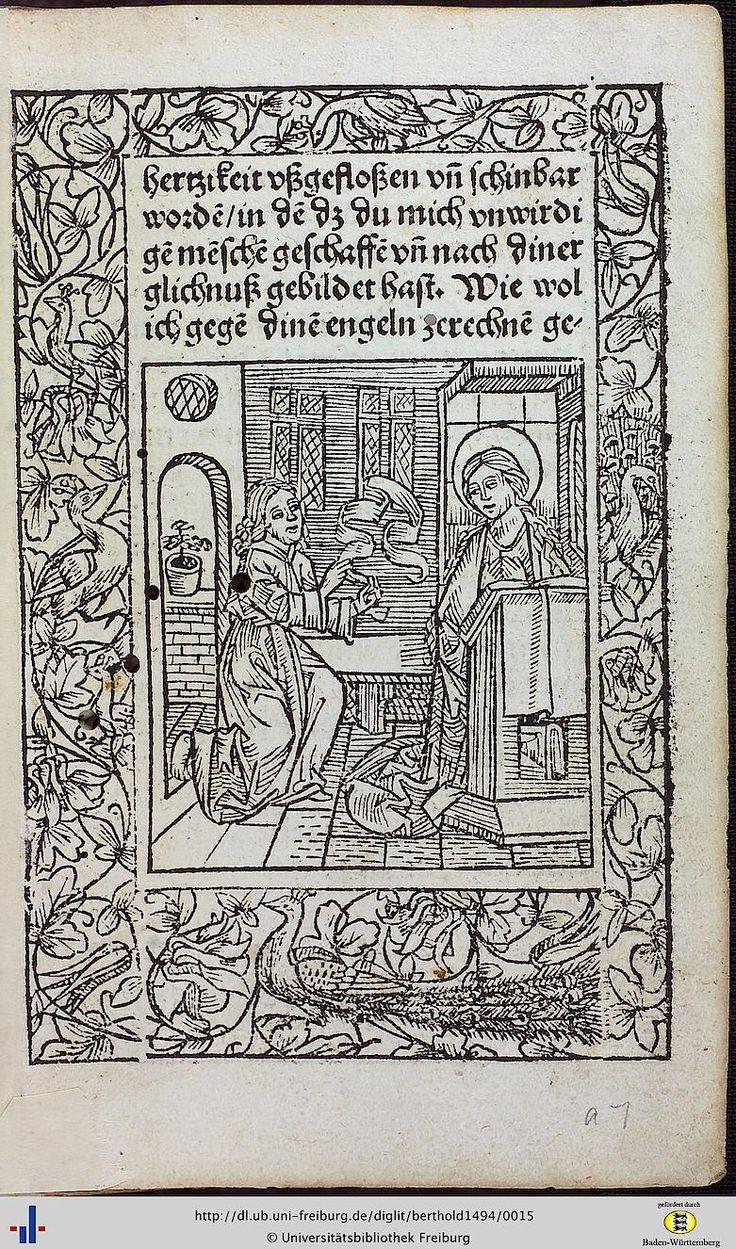 Berthold der Bruder: Zeitglöcklein des Lebens und Leidens Christi ([Reutlingen], ca. 1494 [GW 4170] [Sack 603]) (UB Freiburg, Ink. K 3484) - Freiburger historische Bestände - digital - Universitätsbibliothek Freiburg
