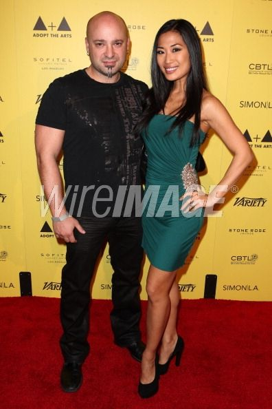 Vocalist David Draiman of Disturbed and his wife Lena Yada