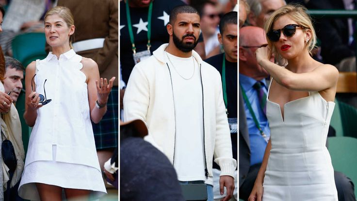 The Best Courtside Looks at Wimbledon. Rosamund Pike, Drake and Sienna Miller made for some stiff competition.