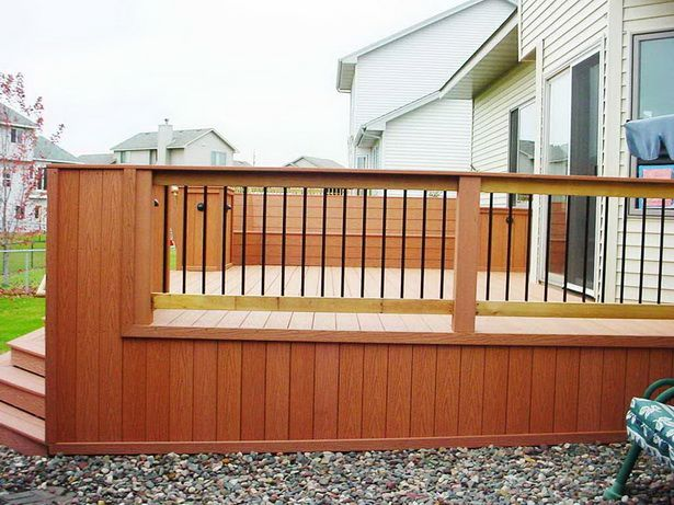 Deck Railing Design Ideas metal deck railing Wood Deck Railing Design Ideas