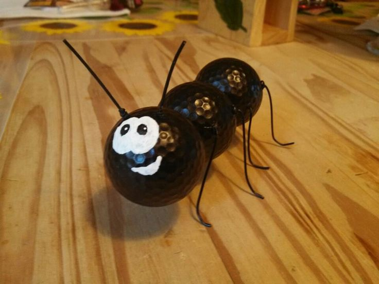 Ant made from golf balls