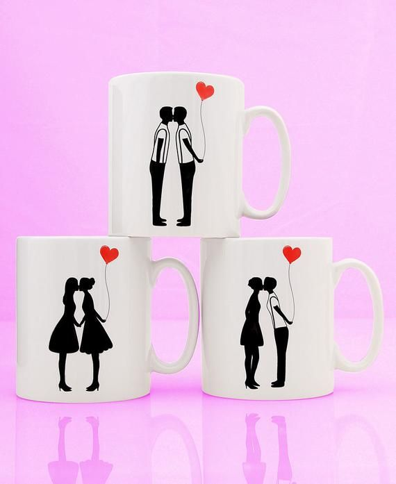 Lesbian Silhouette Ceramic Mug Girlfriend Birthday Mug Etsy In 2021 Mens Valentines Gifts Unicorn Birthday Cards Valentine Gifts