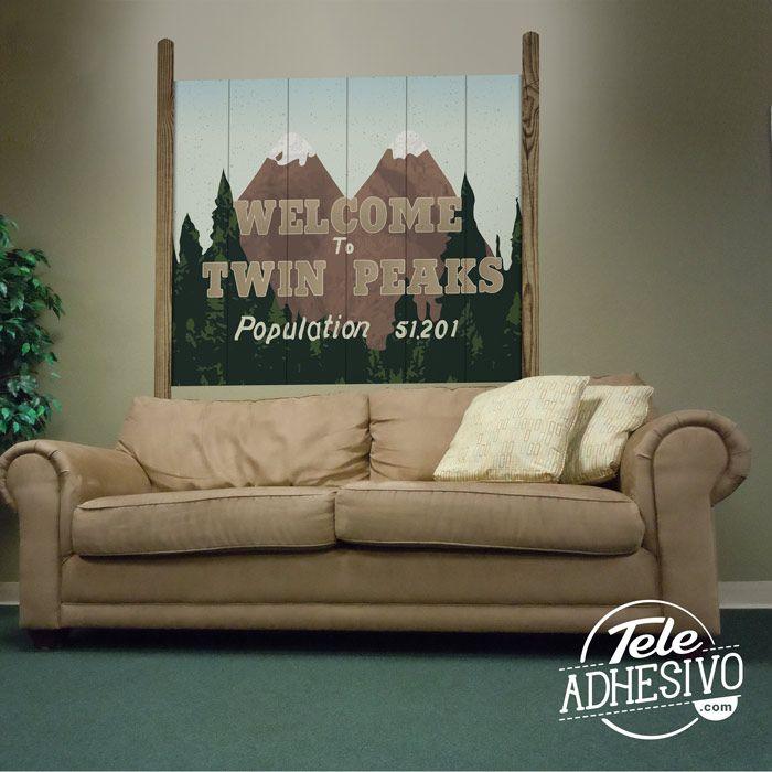118 best vinilos cine series tv images on pinterest surf game and twin peaks - Vinilo welcome ...