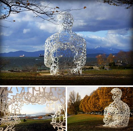 """We"" Sculpture by Jaume Plensa--- absolutely breathtaking, awe inspiring, serene and peaceful, thought provoking and mesmerizing delight."