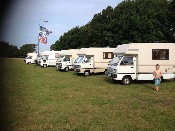 Hayling Island our first 'Bambi Rally' ! Howard's , mine then Phils in the forefront !