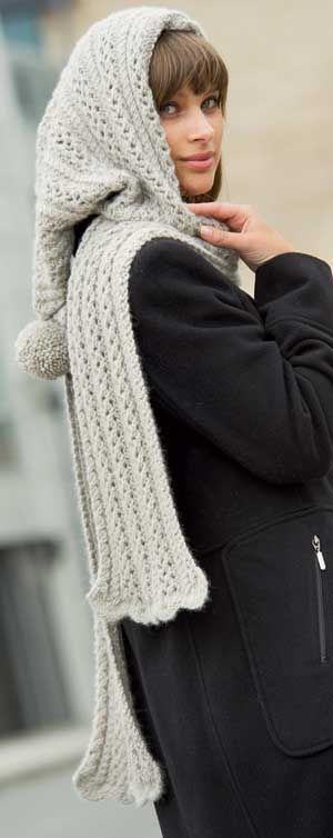Easy Knitted Hooded Scarf Pattern Free : 25+ best ideas about Hooded scarf on Pinterest Crochet hooded scarf, Free s...