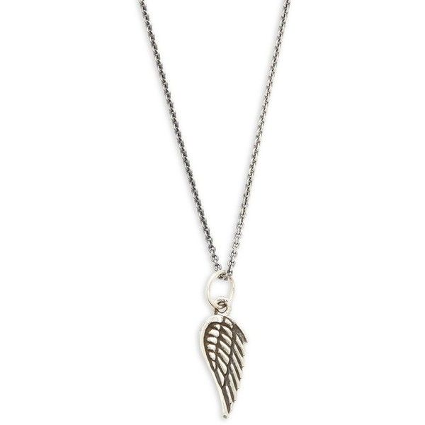 King Baby Studio Sterling Silver Micro Wing Pendant Necklace (165 AUD) ❤ liked on Polyvore featuring men's fashion, men's jewelry, men's necklaces, mens sterling silver cross pendant, mens angel wing necklace, mens chains, mens pendant necklace and mens sterling silver chains