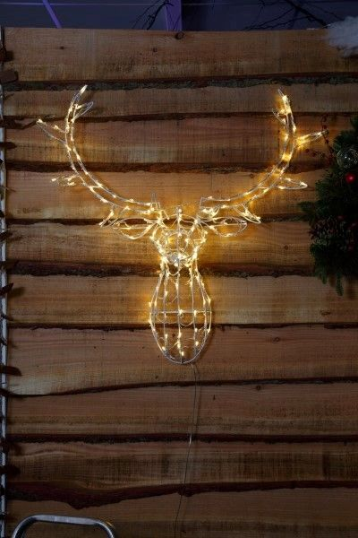 noma 24 outdoor battery operated led christmas lights. antique white stag head outdoor light | noma lighting christmas 2016 www. noma. noma 24 battery operated led lights l