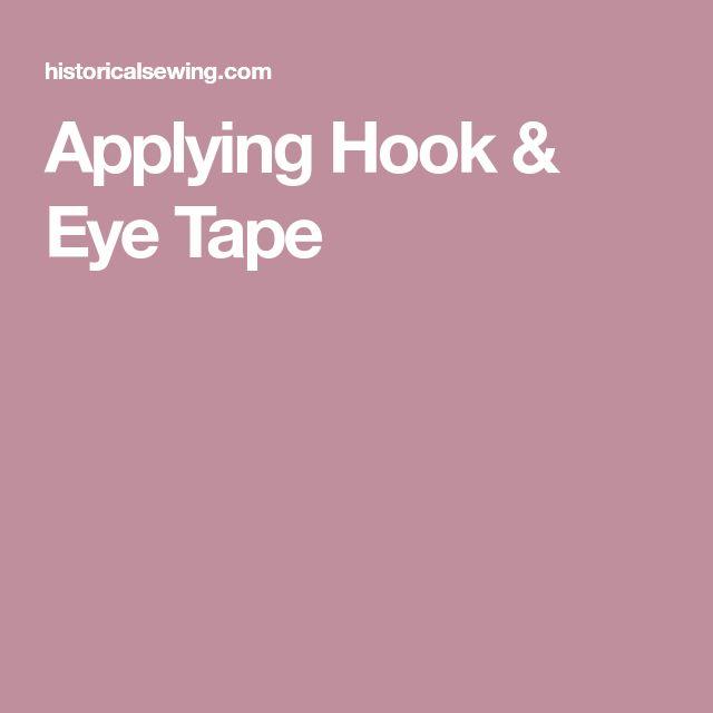 Applying Hook & Eye Tape