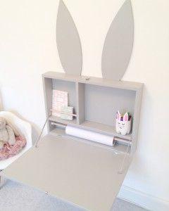 DIY, gør det selv, kanin, skrivebord, magnettavle, børneværelse, babyværelse, diy magnettavle, diy skrivebord, pladsbesparende, mor, mamawise, mamawise.dk, mamawisedk, mødre, kreativ, krea