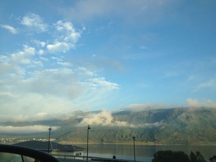 Beautiful view #sky #clouds #water #trees #view #pretty #mountain #Norway #Ålesund #Norge