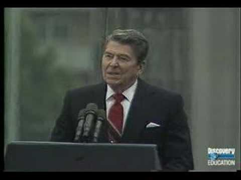 "Speeches that inspire: Reagan at the Brandenberg Gate, 1987: ""General Secretary Gorbachev, if you seek peace, if you seek prosperity for the Soviet Union and Eastern Europe, if you seek liberalization, come here to this gate. Mr. Gorbachev, open this gate. Mr. Gorbachev, tear down this wall!""(pt1)"