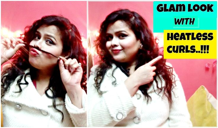 HEATLESS CURLS TUTORIAL   Glam Party/New year eve look