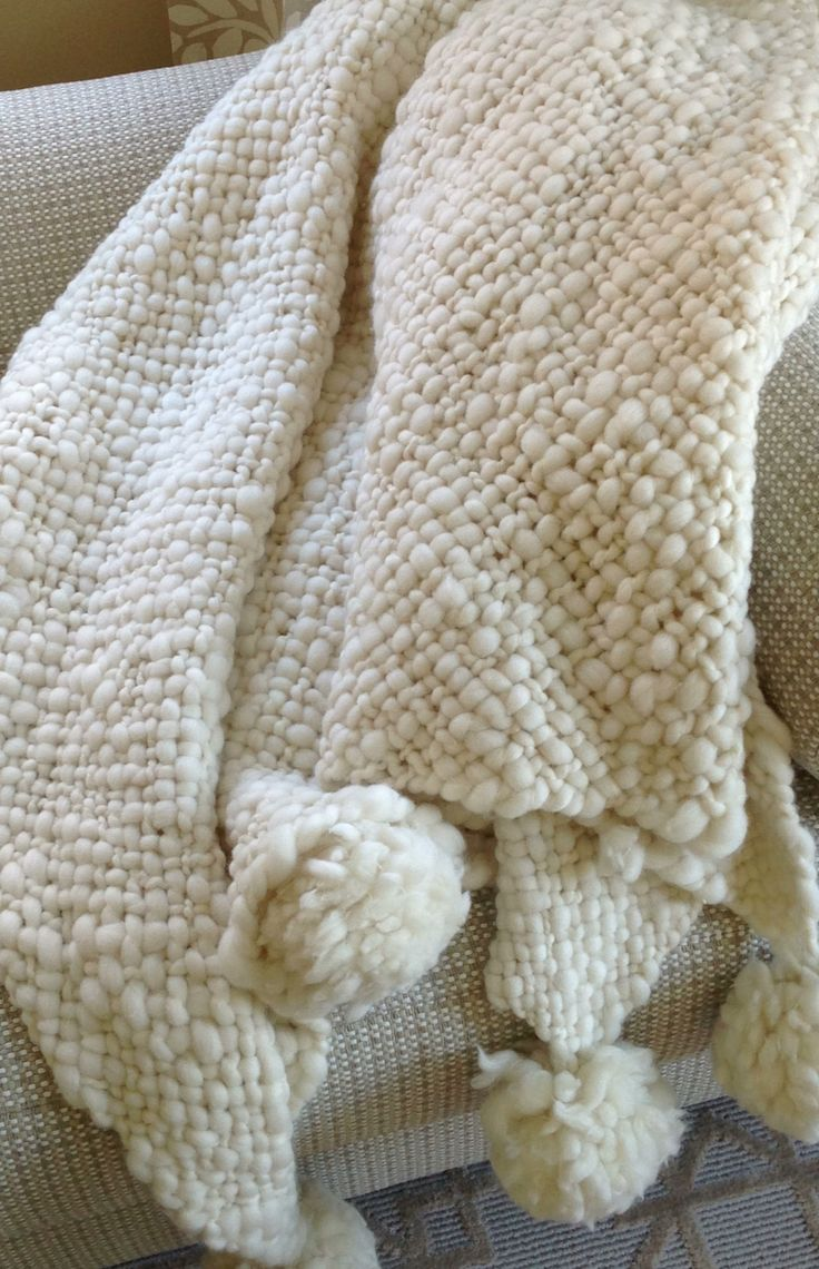 Knitting A Baby Blanket With Pom Pom Wool : The softest blanket ever hand knit argentinian wool with