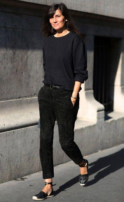 Vogue Paris editor Emmanuelle Alt wearing Valentino espadrilles