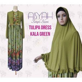 Busana Muslim - Kala Green Tulipa Dress